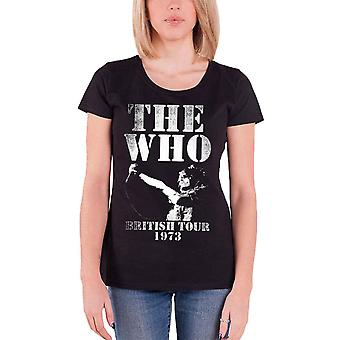 The Who British Tour 1973 New Official Womens Skinny Fit T Shirt