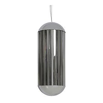 Light & Living GRAYSON Hanging Lamp Chrome & Smoke (30x70cm)
