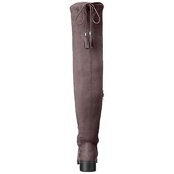 Malanda fille Womens PRISSLEY tissu fermé orteils au-dessus du genou bottes d'équitation