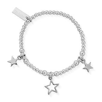 ChloBo Kinder's Silber Triple Star Armband