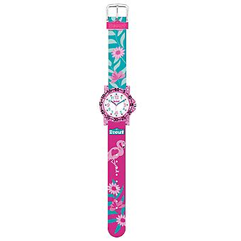 Scout Kids Watch Learning Clock IT Collection - Glitter Flamingo Girls 280375019