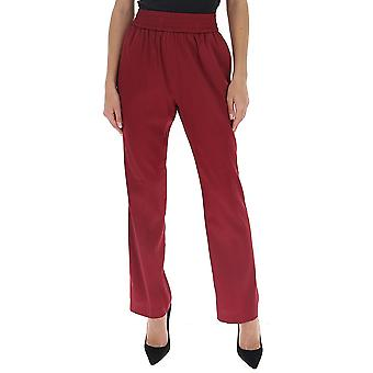 Fabiana Filippi Pad260b195c1013022 Women's Burgundy Silk Pants
