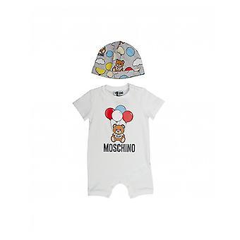 Moschino Unisex Balloon Print Shortall And Hat