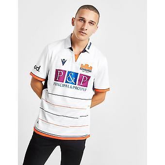 New Macron Men's Edinburgh Rugby 2019/20 Away Shirt White