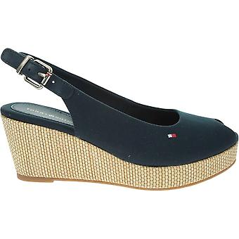 Tommy Hilfiger Iconic Elba Sling Back Wedge FW0FW04788DW5 universal summer women shoes