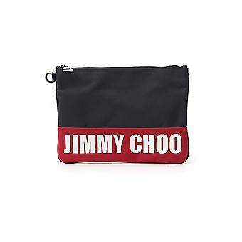 Jimmy Choo Dereksjconavyred Men's Black/red Leather Clutch