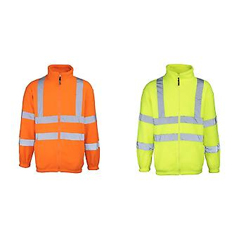 RTY High Visibility Mens High Vis Full Zip Fleece Jacket (Pack of 2)