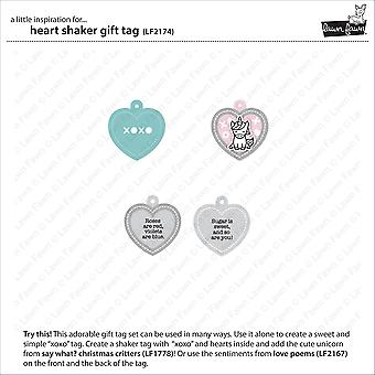Lawn Cuts Custom Craft Die -Heart Shaker Gift Tag