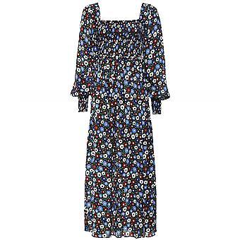 RIXO Marie Floral Midi Dress