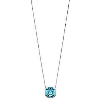 Joshua James Radiance Silver & Aquamarine Swarovski Crystal Imperial Cut Necklace