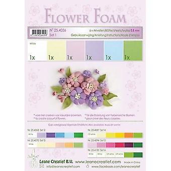 Leane Creatief Espuma de Flores A4 Set 1 Pastel