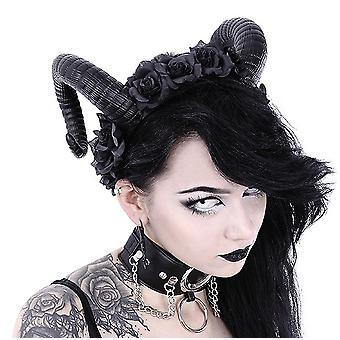 Restyle - sinister & roses headband - gothic headpiece