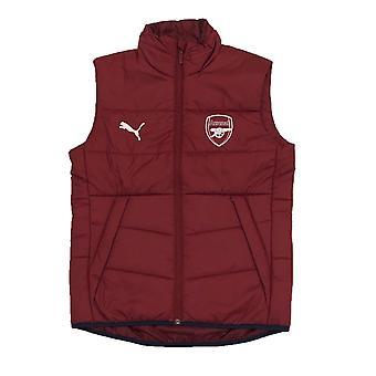 Arsenal FC virallinen jalkapallo lahja miesten pehmustettu liivi kehon lämpimämpi gilet