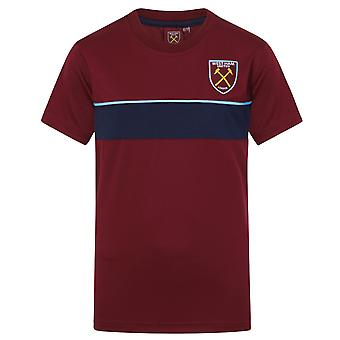 West Ham United Boys T-Shirt Poly Training Kit Kids OFFICIAL Football Gift