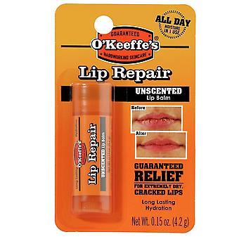 O'keeffe's lip repair lip balm, unflavored, 0.15 oz