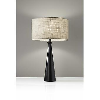 Black Metal Tapered Base Table Lamp