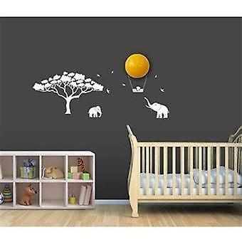 Babyzoo - lampada da notte con adesivi decorativi bianco - giungla
