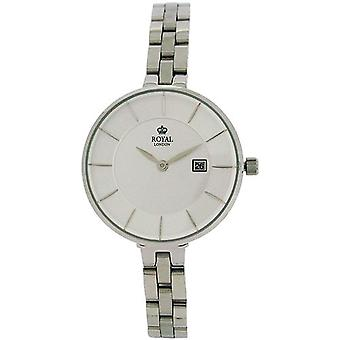 Royal London Silver Dial Date All Stainless Steel Bracelet Strap Watch 21321-06