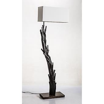 Modern Home Angled Driftwood Nautical Wooden Floor Lamp - Blackwood