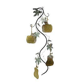 Sculpture métallique d'automne de moisson d'art de récolte d'or