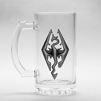Skyrim The Elder Scrolls 5 Dragon Symbol Saithe Beer Glass