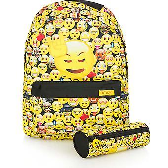 Emoji Backpack Bag 40x30x10cm + Pen Case