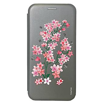 Case For Samsung Galaxy S20 Grey Pattern Flowers From Sakura