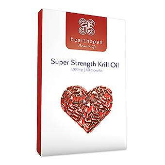 Super Strength Krill Oil 1,200mg - 60 Capsules