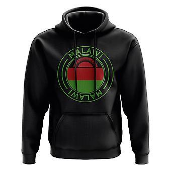 Malawi Football Badge Hoodie (Svart)
