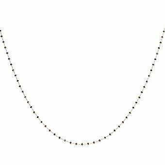 14k Briolette cut Lobster Claw Closure Gold Brown Diamond Briolette Necklace Jewelry Gifts for Women - Length: 16 to 36