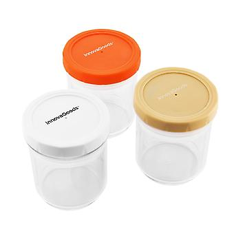 3x Adjustable Food Containers