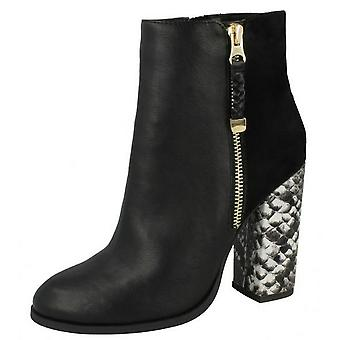 Anne Michelle Womens/Ladies High Snake Heel Ankle Boots