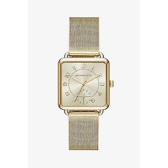 Michael Kors MK3663 Brenner Gold-Tone Tříruční mesh dámské hodinky