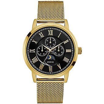 כנראה W0871G2 דלנסי קוורץ אנלוגי עם צמיד מצופה זהב גברים ' s שעון