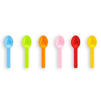 Vegware Compostable Tutti Frutti Ice Cream Spoons
