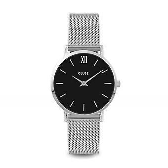 Cluse CW0101203005 Minuit Mesh Silver Tone Wristwatch