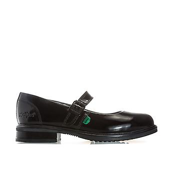Women's Kickers Lach Mary Jane Patent Shoes in Black