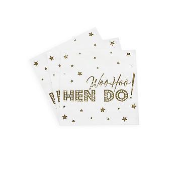 Woo Hoo Hen Do - Paper Napkin - 16 Pack