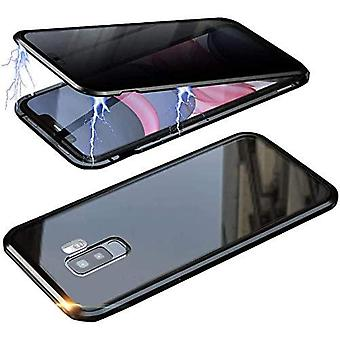 Mobile case in double-sided tempered glass for Samsung Galaxy S9 - black