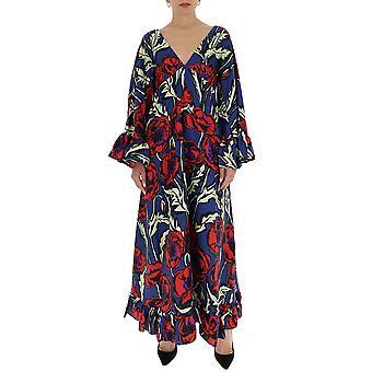 La Double J Dre0155sil001pfi0001 Women's Multicolor Silk Dress