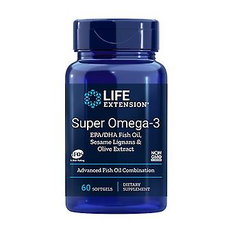 Super Omega 3 com extrato de gergelim e azeitona 60 pérolas