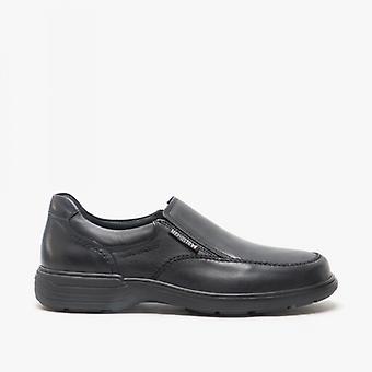 Mephisto Davy Riko Mens Leather Slip On Shoes Black