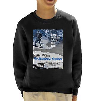 Hammer skräckfilmer avskyvärda snögubbe 1957 affisch Kid ' s tröja