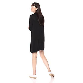 Marca - Daily Ritual Women's Jersey Mock-Neck Swing Dress, preto, médio