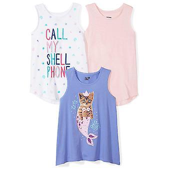 Spotted Zebra Girls' Big Kid 3-Pack Sleeveless Tank Tops, Sereia, XX-Large (...