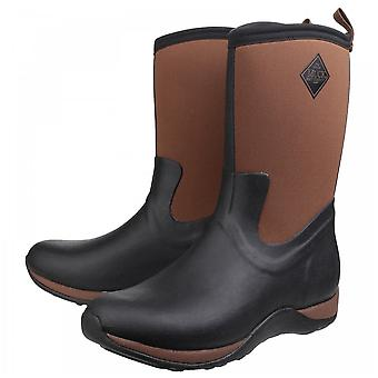 Muck Boots Black/tan Arctic Weekend Pull On Wellington Boots