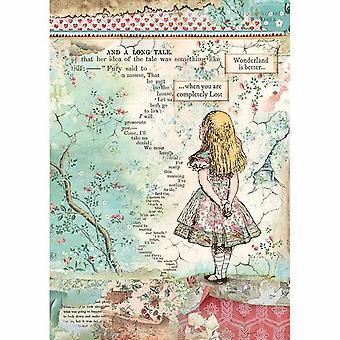 Papier de riz A4 Alice (DFSA4349)