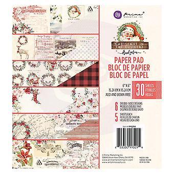 بريما التسويق عيد الميلاد في البلاد 6x6 بوصة ورقة وسادة