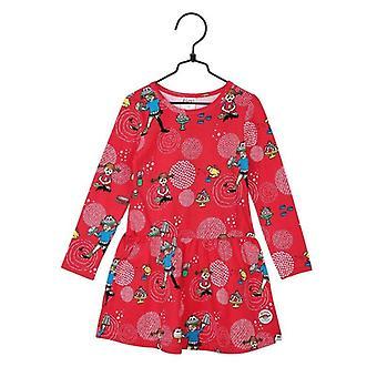 Pippi Longstocking Dress Kalas 122 cl, , Red