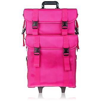 شاني لينة ماكياج الفنان المتداول عربة حقيبة مستحضرات التجميل مع مجموعة مجانية من حقيبة شبكة